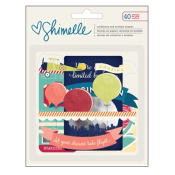 American Crafts Shimelle STARSHINE EPHEMERA Cardstock and Acetate 374057