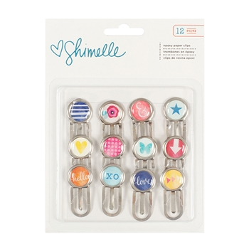 American Crafts Shimelle EPOXY PAPER CLIPS Starshine 374061
