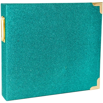 Becky Higgins American Crafts Project Life TEAL GLITTER 8x8 Ring Album 312079 Heidi Swapp