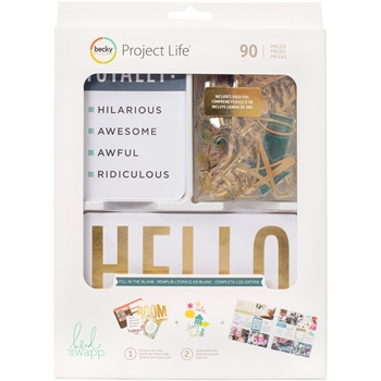 Becky Higgins American Crafts Project Life FILL IN THE BLANK Value Kit 312063 Heidi Swapp