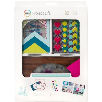 Becky Higgins American Crafts Project Life BRIGHT OVERLAYS Value Kit 312061 Heidi Swapp