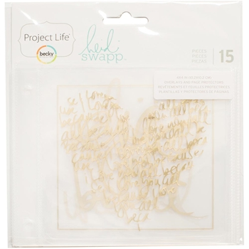 Becky Higgins American Crafts Project Life OVERLAYS AND PAGE PROTECTORS 4x4 Heidi Swapp 312072