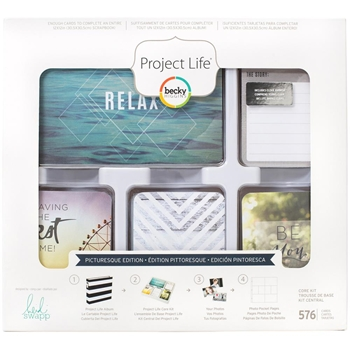 Becky Higgins American Crafts Project Life PICTURESQUE EDITION Core Kit Heidi Swapp 312076