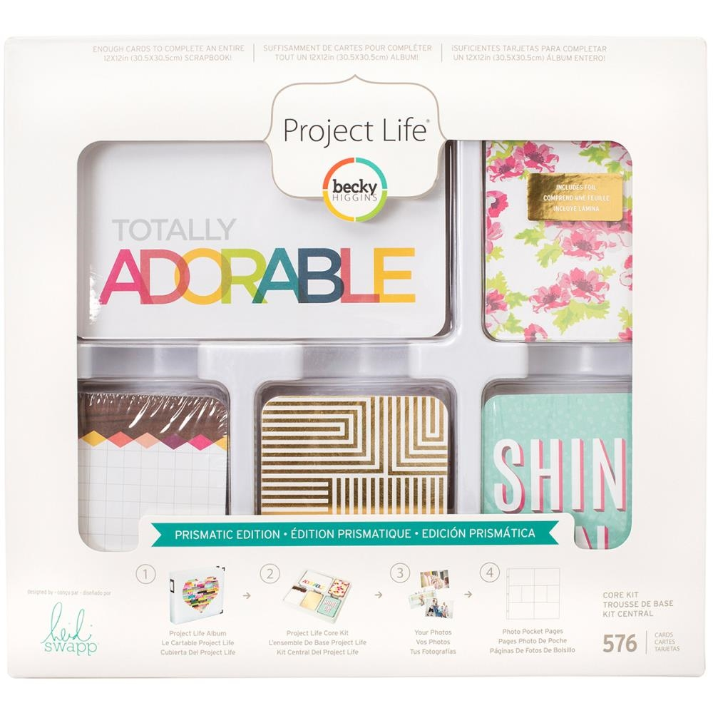 Becky Higgins American Crafts Project Life PRISMATIC EDITION Core Kit Heidi Swapp 312075 zoom image