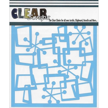 Clear Scraps FUNKY BOXES 6 x 6 Stencil 013433