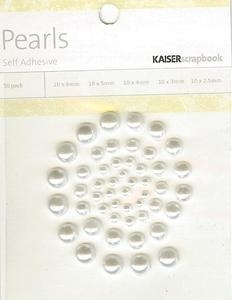 Kaiser Scrapbook SNOW 50 Count Self Adhesive Pearls SB794