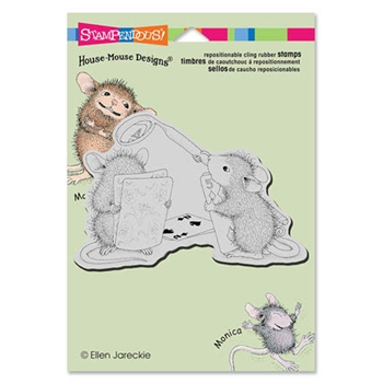 Stampendous Cling Stamp CARD SHARK Rubber UM HMCP41 House Mouse