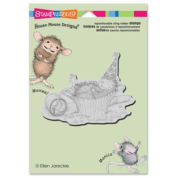 Stampendous Cling Stamp CUPCAKE COMA Rubber UM HMCP45 House Mouse