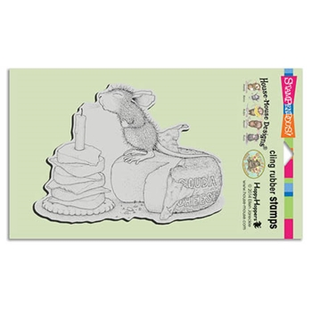 Stampendous Cling Stamp GOUDA WISH Rubber UM HMCR49 House Mouse