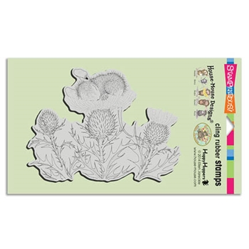 Stampendous Cling Stamp THISTLE NAP Rubber UM HMCR57 House Mouse