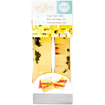 We R Memory KEEPERS DIY PARTY GOLD Fringe Tape 660771