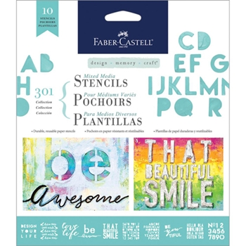 Faber-Castell LETTERING Stencil Set 770603