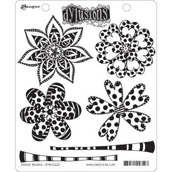 Dyan Reaveley DOODLE BLOOMS Dylusions Cling Stamp Set DYR51220