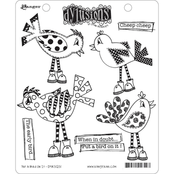 Dyan Reaveley PUT A BIRD ON IT Dylusions Cling Stamp Set DYR51251