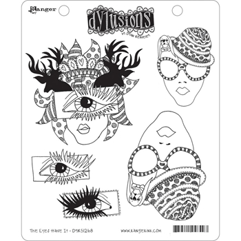 Dyan Reaveley THE EYES HAVE IT Dylusions Cling Stamp Set DYR51268