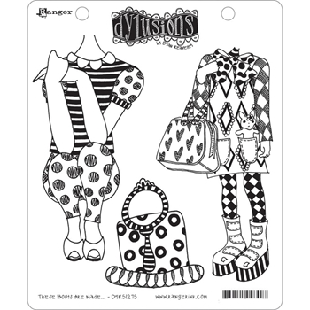 Dyan Reaveley THESE BOOTS ARE MADE... Dylusions Cling Stamp Set DYR51275