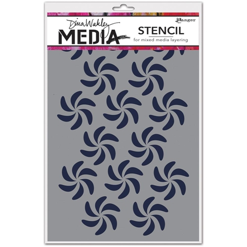 Dina Wakley BENDY PINWHEELS Media Stencil MDS49869 Preview Image
