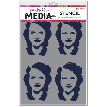 Dina Wakley FOUR WOMEN Media Stencil MDS49883