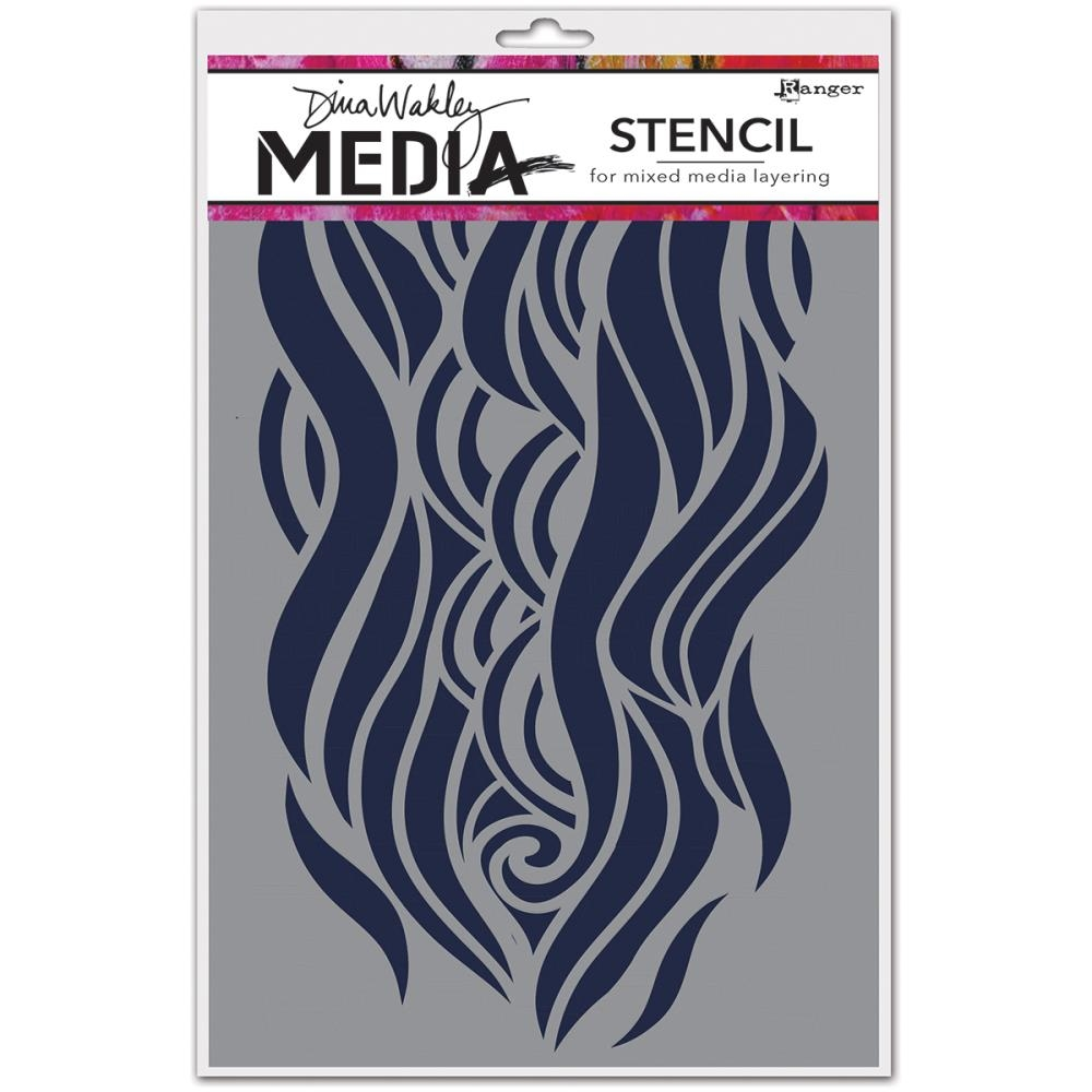 Dina Wakley MIGHTY WAVE Media Stencil MDS49906 zoom image