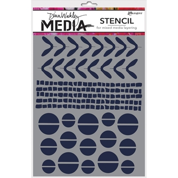 Dina Wakley MINI FAVORITES Media Stencil MDS49913
