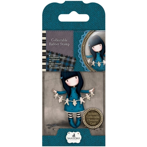 DoCrafts I FOUND MY FAMILY IN A BOOK Mini Cling Stamp Gorjuss 907306 Preview Image