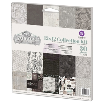 Prima Marketing SALVAGE DISTRICT 12 x 12 Collection Kit 584337*