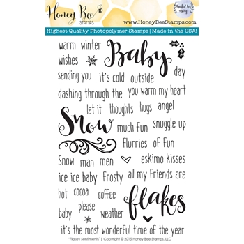 Honey Bee FLAKEY SENTIMENTS Clear Stamp Set