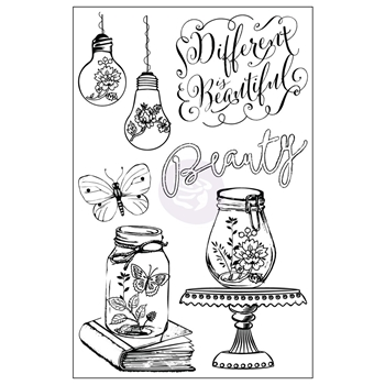Prima Marketing BEAUTY Salvage District Cling Stamp Set 584702