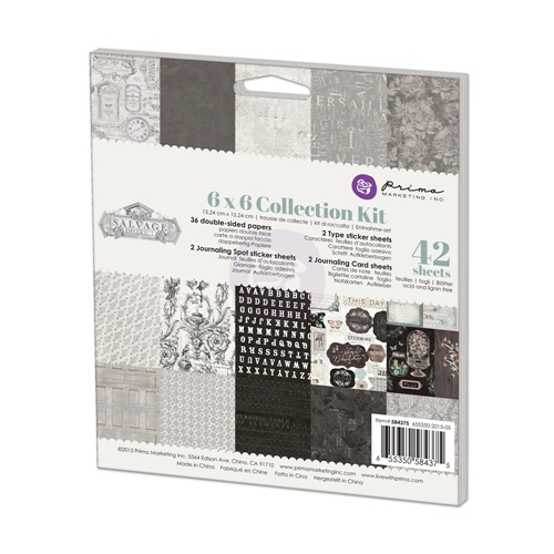 Prima Marketing SALVAGE DISTRICT 6 x 6 Collection Kit 584375 Preview Image