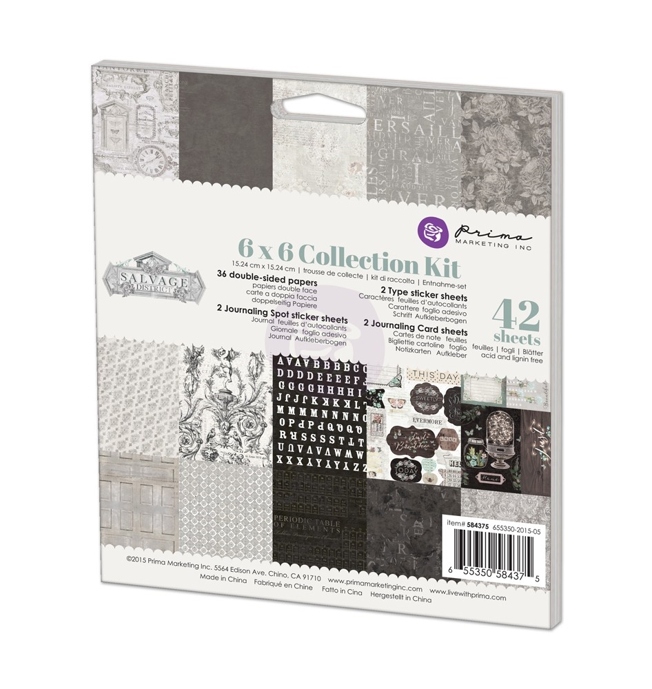 Prima Marketing SALVAGE DISTRICT 6 x 6 Collection Kit 584375 zoom image