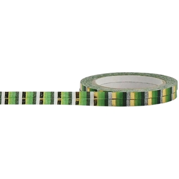 Little B GOLD AND GREEN STRIPES Foil Tape 100569*