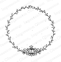 Impression Obsession Cling Stamp Circle- VINES F19094 * zoom image