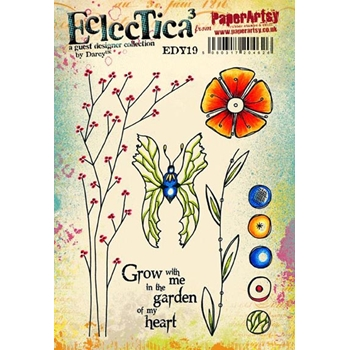 Paper Artsy ECLECTICA3 DARCY 19 Rubber Cling Stamp EDY19