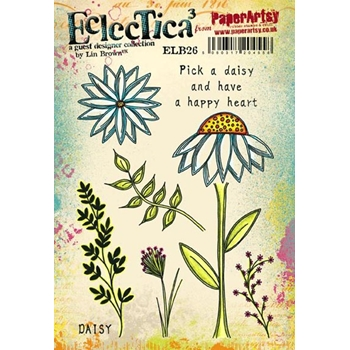 Paper Artsy ECLECTICA3 LIN BROWN 26 Rubber Cling Stamp ELB26