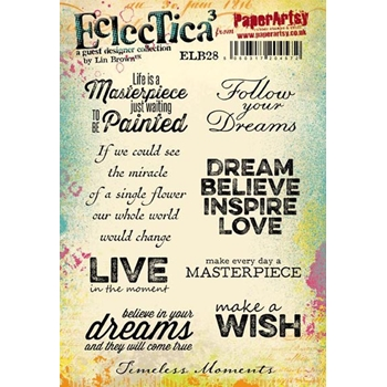 Paper Artsy ECLECTICA3 LIN BROWN 28 Rubber Cling Stamp ELB28
