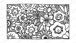 Impression Obsession Cling Stamp CHUNK O'FLOWERS E19087* Preview Image