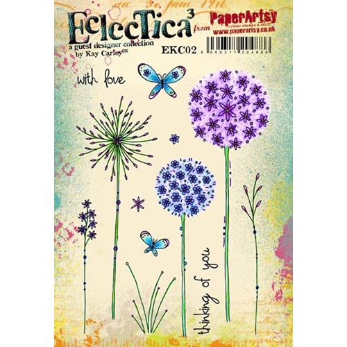 Paper Artsy ECLECTICA3 KAY CARLEY 02 Rubber Cling Stamp EKC02 Preview Image