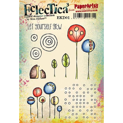 Paper Artsy ECLECTICA3 KIM DELLOW 01 Rubber Cling Stamp EKD01 Preview Image
