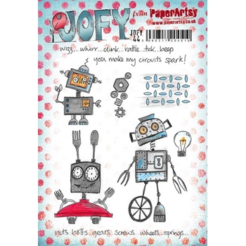 Paper Artsy JOFY 44 Circuits Spark Rubber Cling Stamp JOFY44