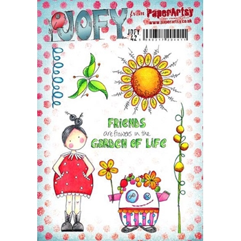 Paper Artsy JOFY 42 Garden of Life Rubber Cling Stamp JOFY42