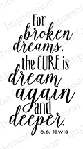 Impression Obsession Cling Stamp BROKEN DREAMS D13417 * Preview Image