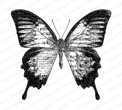 Impression Obsession Cling Stamp BIG BUTTERFLY L13416 zoom image