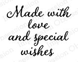 Impression Obsession Cling Stamp MADE WITH LOVE C9877