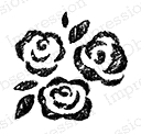Impression Obsession Cling Stamp CHALK ROSE TRIO C9950