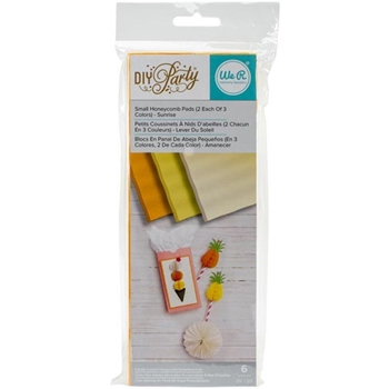 We R Memory Keepers DIY PARTY SUNRISE Small Honeycomb Pads 660801