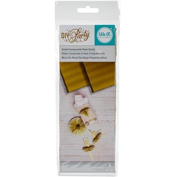 We R Memory Keepers DIY PARTY GOLD METALLIC Small Honeycomb Pads 660810