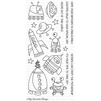 My Favorite Things OUT OF THIS WORLD Clear Stamps CS100
