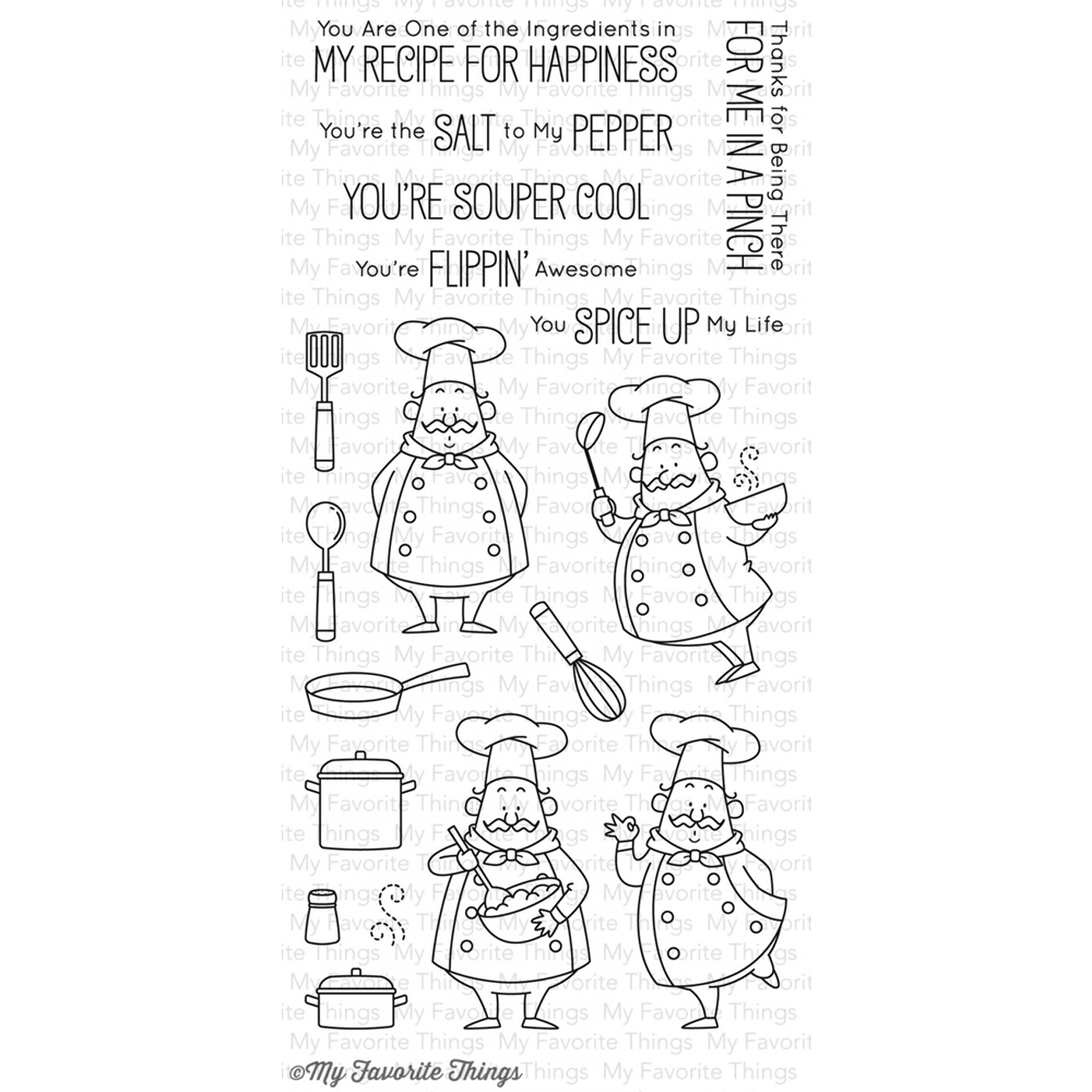 MFT Recipe for Happiness Clear Stamp Set