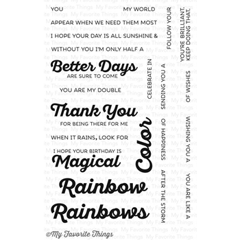 My Favorite Things RAINBOW OF HAPPINESS Clear Stamps CS110
