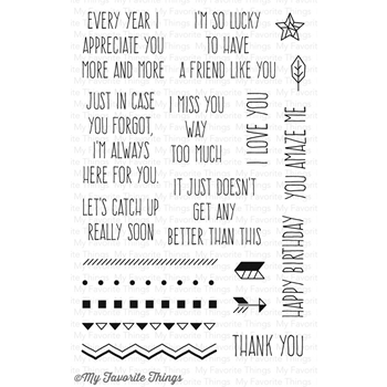 My Favorite Things WHIMSICAL GREETINGS Clear Stamps LJD56